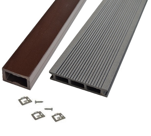 Kit terrasse bois composite gris anthracite mdsa france - Kit terrasse composite ...