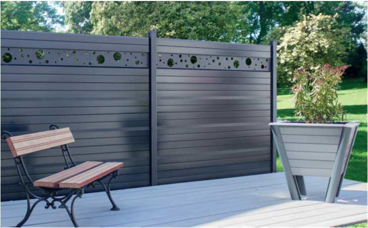 sp cialiste de la cl ture composite et panneau aluminium. Black Bedroom Furniture Sets. Home Design Ideas