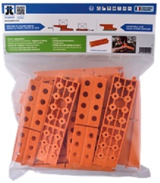 Cales terrasse crant es 11 40 mm orange mdsa france - Cale plastique pour terrasse bois ...