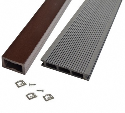 KIT Terrasse Bois Composite - Anthracite - PRO XTREM 26X140 MM